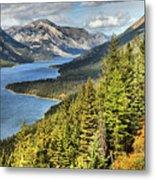 Upper Waterton Lake Valley Metal Print