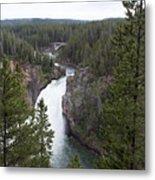 Upper Yellowstone Falls Metal Print