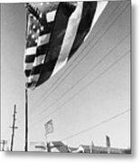 Upraised Flag Support Mlk Day March Tucson Arizona 1991 Metal Print
