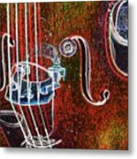 Upright Bass Close Up Metal Print