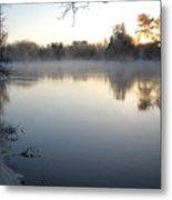 Upstream Mississippi River After Ice Out Metal Print