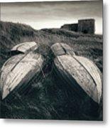 Upturned Boats Metal Print