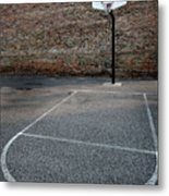 Urban Basketball Street Ball Outdoors Metal Print