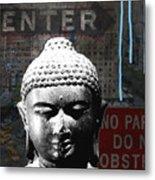 Urban Buddha 4- Art By Linda Woods Metal Print