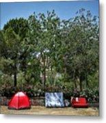 Urban Camping Metal Print