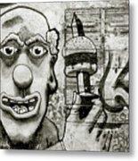 Urban Clown Metal Print