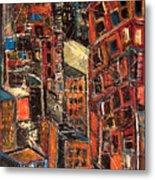 Urban Congestion Metal Print