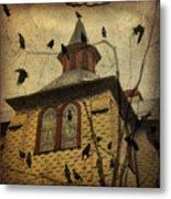 Urban Crows Metal Print