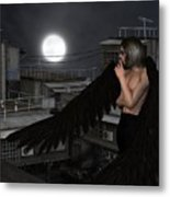 Urban Guardian Angel - Standing Metal Print