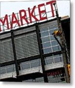 Urban Market Metal Print