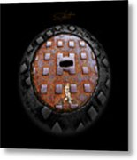 Urban Voice Button Metal Print