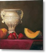 Urn With Fruit Metal Print