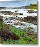 Urridafoss Waterfall And River Pjorsa In Iceland Metal Print