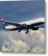 Us Airways A330-200 N280ay Metal Print