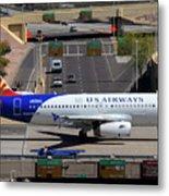 Us Airways Airbus A319-132 N826aw Arizona At Phoenix Sky Harbor March 16 2011 Metal Print