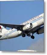 Us Airways Airbus A319-132 N828aw Phoenix Sky Harbor December 23 2010 Metal Print