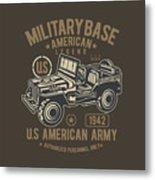 Us American Amry Jeep Metal Print