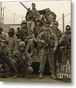 U.s. Army Soldiers Pose For A Photo Metal Print