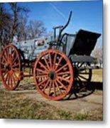 Us Buckboard Wagon Metal Print