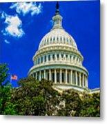 Us Capitol Dome Metal Print