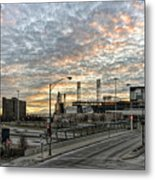 Us Cell Sunset Metal Print