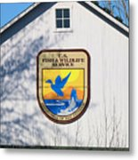Us Fish And Wildlife Service Sign  3931 Metal Print
