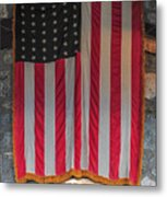 Us Flag At Whiteface Mountain Ny Metal Print