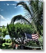 US Flag in the Abaco Islands, Bahamas Metal Print