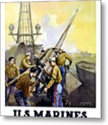Us Marines -- First To Fight For Democracy Metal Print