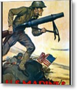 Us Marines - First In France Metal Print