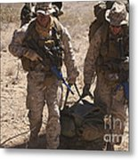 U.s. Marines Prepare To Board A Uh-60 Metal Print