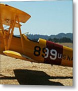 US Navy biplane Metal Print