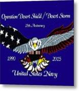 Us Navy Desert Storm Metal Print