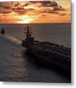 Us Navy  Military Aircraft Carrier  Metal Print