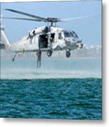 U.s. Navy Sh-60s Sea Hawk Helicopter Metal Print