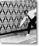 U.s. President Richard Nixon, Bowling Metal Print