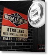 Us Route 66 Briggs And Stratton Signage Sc Metal Print