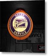 Us Route 66 Buick Sales Globe 02 Sc Metal Print