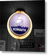 Us Route 66 Plymouth Sales Globe Sc Metal Print