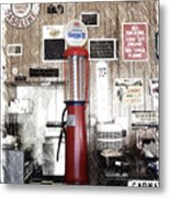 Us Route 66 Smaterjax Dwight Il Gas Pump 01 Pa 01 Metal Print