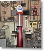 Us Route 66 Smaterjax Dwight Il Gas Pump 01 Pa 02 Metal Print