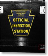 Us Route 66 Smaterjax Dwight Il Official Inspection Signage Metal Print