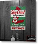 Us Route 66 Smaterjax Dwight Il Sky Chief Supreme Signage Metal Print