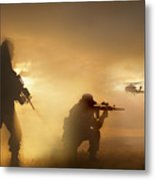 U.s. Special Forces Provide Security Metal Print