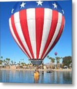 Usa Balloon Metal Print