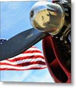Usa Flag Bomber Wwii  Metal Print