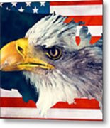 Usa Flag Eagle Metal Print