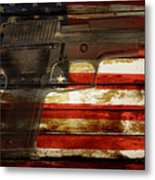 Usa Handgun Metal Print