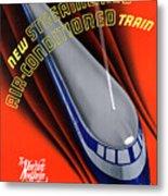 Usa The Comet Vintage Travel Poster Restored Metal Print