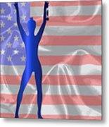 Usa Winner Background Metal Print